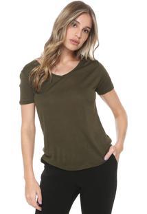 Camiseta Sacada Lisa Verde