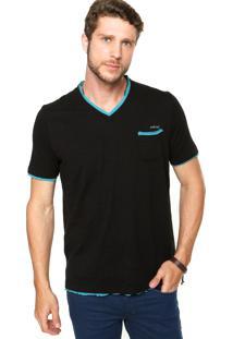 Camiseta Colcci Recortes Preta