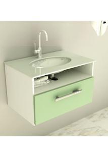 Gabinete 16 Com Pia De Vidro Linea 60 Cm Verde