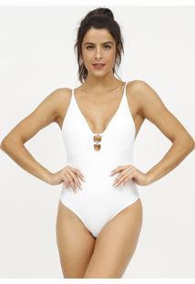 Body Texturizado Com Aviamentos- Branco- Patrapatra