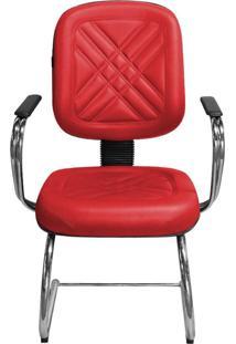 Cadeira Pethiflex Pd-05Scbc Couro Vermelho