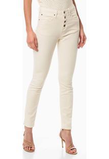 Calça Color 5 Pockets High Rise Skinny - Off-White - 34