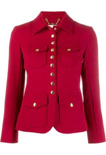 Chloé Fitted Button-Up Jacket - Vermelho