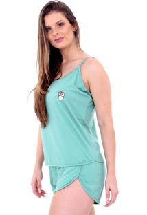 Pijama Algodão Mechler Short Doll Verde