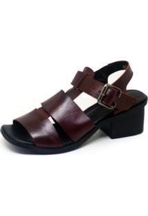 Sandália S2 Shoes Salto Vinho