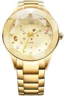 Relógio Technos 2039Atdtm/4X Feminino - Feminino-Dourado