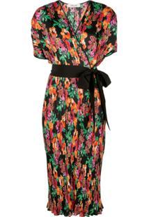 Diane Von Furstenberg Floral Print Wrap Dress - Estampado