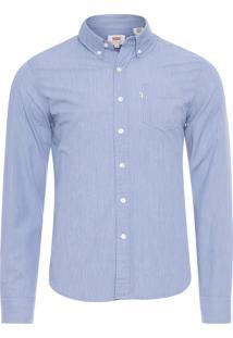 Camisa Masculina Manga Longa - Azul