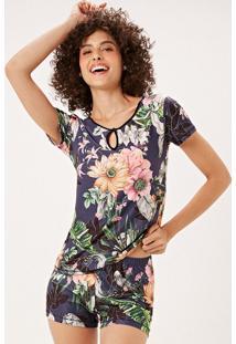 Pijama Joge Curto Multicolorido - Multicolorido - Feminino - Dafiti