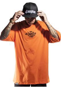 Camiseta Wanted Ind Logo Pixo Laranja