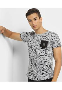 Camiseta Polo Rg 518 Careca Masculina - Masculino-Cinza