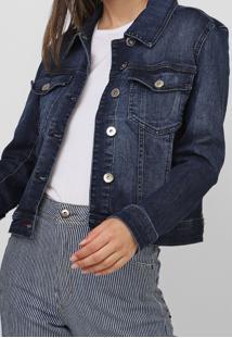 Jaqueta Jeans Ellus Bolsos Azul - Kanui