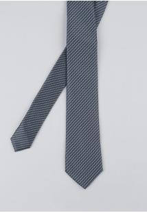 Gravata Masculina Estampada Em Jacquard Chumbo - Único