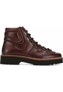 Tod'S Ankle Boot Com Logo Gravado - Marrom