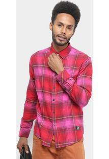 Camisa Ellus 2Nd Floor Wool Alabama Manga Longa Xadrez Masculina - Masculino-Pink