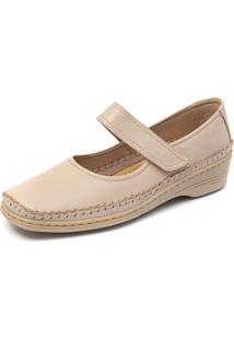 Sapato Conforto Magershoes 1016 Marfim Branco
