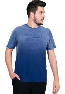 Camiseta Baiki Badhai Standard Degradê Azul Marinho