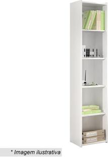 Estante Biblioteca- Branca- 182X40X30Cm- Movel Bmovel Bento