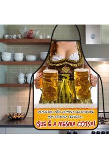 Avental Personalizado Tecido Microfibra Estampada - Mulher Cerveja