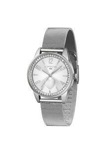 Kit Relógio Feminino Lince Lrmj106L-Kx70S2Sx Analógico 5Atm + Conjunto Semijóia   Lince   Prata   U