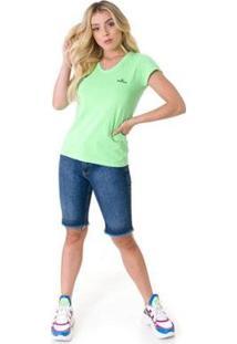 Bermuda Opera Rock Jeans Feminina - Feminino-Azul