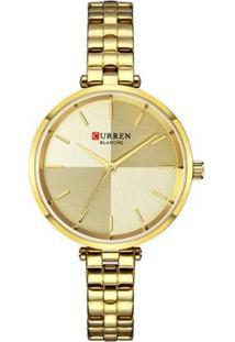 Relógio Curren Analógico C9043L Feminino - Feminino-Dourado