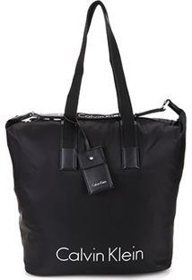 Bolsa Calvin Klein Shopper Grande Nylon Feminina - Feminino