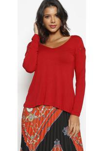Blusa Lisa Com ZãPer - Vermelha - Thiptonthipton