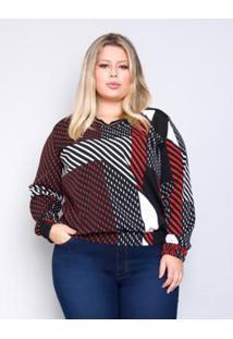 29d70dba7 ... Blusa Plus Size Palank Estampada Show Feminina - Feminino-Vermelho