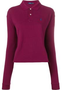 Polo Ralph Lauren Camisa Polo Mangas Longas - Vermelho
