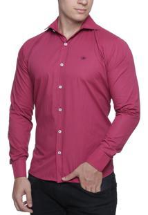 Camisa Alfaiataria Burguesia Quadrada Rosa E Azul