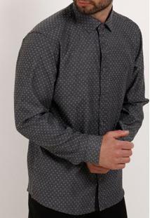 Camisa Manga Longa Masculina Bivik Cinza