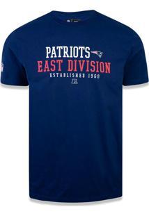 T-Shirt New Era Basico M/C New England Patriots Marinho