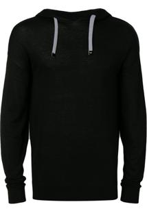 Emporio Armani Drawstring Hooded Sweatshirt - Preto