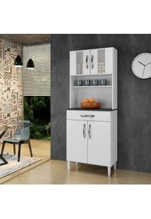 Armário De Cozinha Milão Branco 4 Portas 1 Gavetão - Arte Móveis
