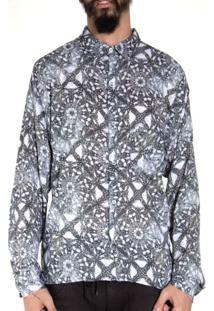 Camisa Andy Roll Estampada Shredt