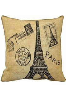e52ecef4ba95e0 Capa Almofada Paris Cartão Postal - 40x40cm