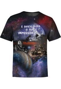 Camiseta Estampada Over Fame Galaxy Multicolorido