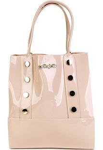 Bolsa Petite Jolie Shopper Bag Feminina - Feminino-Bege Claro