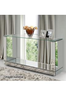 Aparador Reflex Bisotê- Incolor & Espelhado- 140X80Xrg Móveis