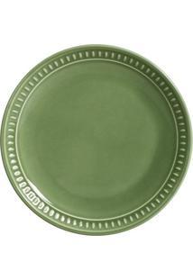 Prato Sobremesa Sevilha Cerâmica 6 Peças Verde Sálvia Porto Brasil