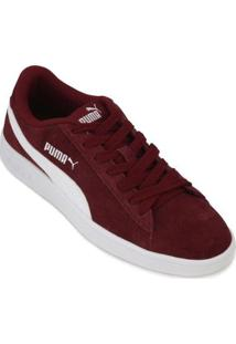 Tênis Puma Smash Masculino - Masculino-Vermelho+Branco