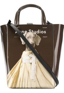 Acne Studios Bolsa Tote Baker Ap Pequena - Marrom