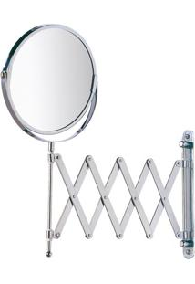Espelho Sanfonado Para Banheiro- Prateado- 38X58X3Cmhudson