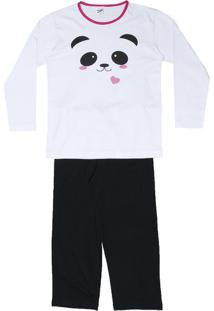 Pijama Panda- Branco & Preto- Zulaizulai