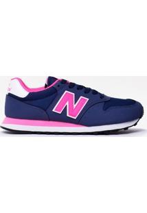Tênis New Balance 500 Marinho Rosa Gw500Nwp - Masculino