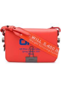 Off-White Mini Flap Bag Coral Red Blue - Laranja