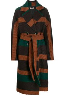 Ulla Johnson Belted Double-Breasted Coat - Marrom
