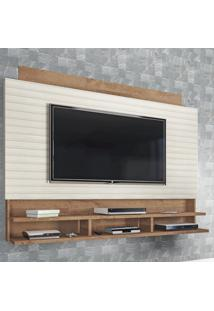Painel Para Tv Até 72 Polegadas Flex Canelato Rústico/3D Natura Off White - Atualle Móveis