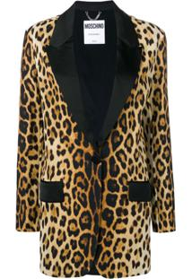 Moschino Blazer Animal Print - Neutro